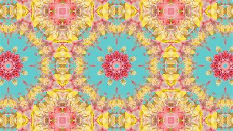 kaleidoscope background loop vintage floral pattern