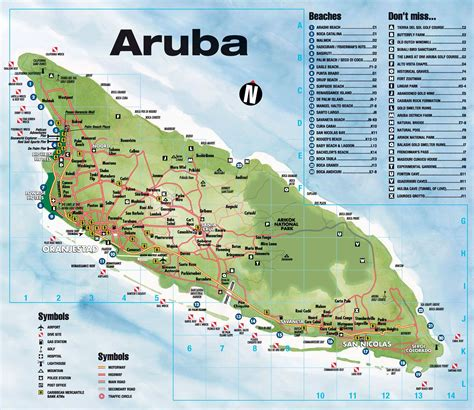 Best Hotel Aruba by Aruba Map Of Hotels 2018 World S Best Hotels