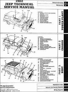 1982 Jeep Repair Shop Manual Original