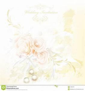 elegant wedding invitation card with roses royalty free With fancy wedding invitations vector