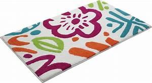 tapis floral pour salle de bain multicolore cool flower With tapis salle de bain multicolore