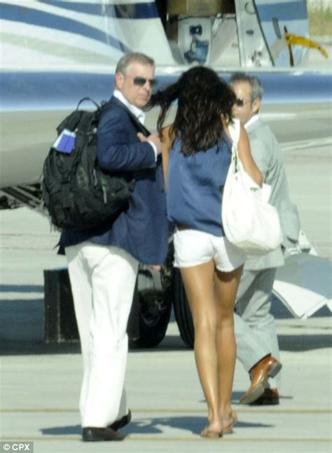 Prince Andrew jets off with model friend Alexandra Escat ...