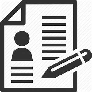 Contract cv document resume icon