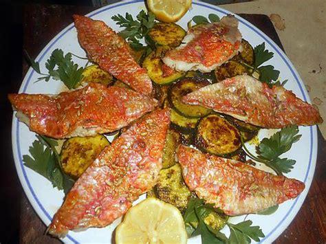 cuisiner rouget recette de filet de rouget courgette à la marocaine