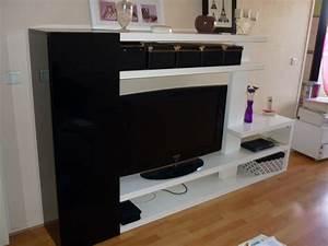 Grand Meuble Tv : meuble tv moderne blanc offres juillet clasf ~ Teatrodelosmanantiales.com Idées de Décoration