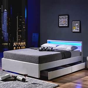 Jugendliche Betten : led bett nube mit schubladen 140 x 200 wei real ~ Pilothousefishingboats.com Haus und Dekorationen
