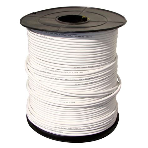 Qsee 1000 Ft Power Cable With Rg59 And 2 Copperwire