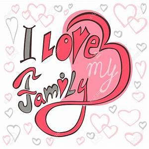 I Love My Family Clipart – 101 Clip Art