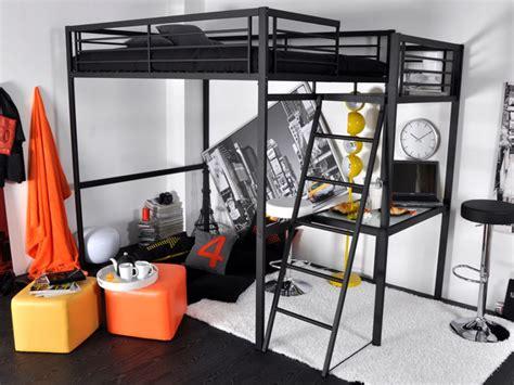 lit mezzanine 2 places avec bureau lit mezzanine casual ii 2 personnes bureauoption matelas