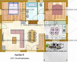Prix Maison En Bois En Kit : prix d 39 une maison en bois en kit de 4 chambres avec ~ Nature-et-papiers.com Idées de Décoration