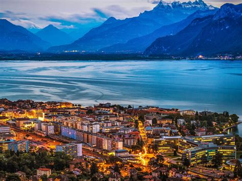 vevey switzerland  lake geneva wallpaper hd