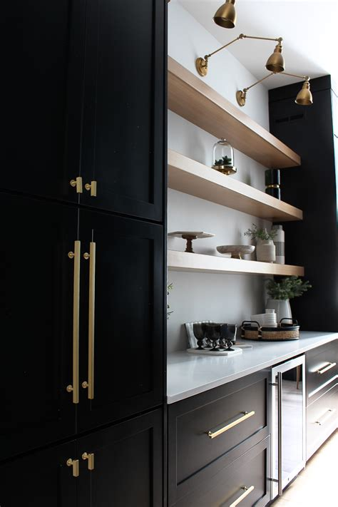 Black Kitchen Pantry by The Forest Modern Our Chic Black Butler S Pantry The