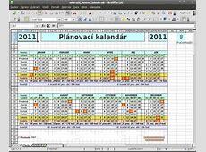 OpenOfficecz Univerzální plánovací kalendář na více roků