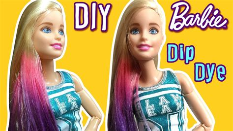 How To Color Dip Dye Barbie Doll Hair