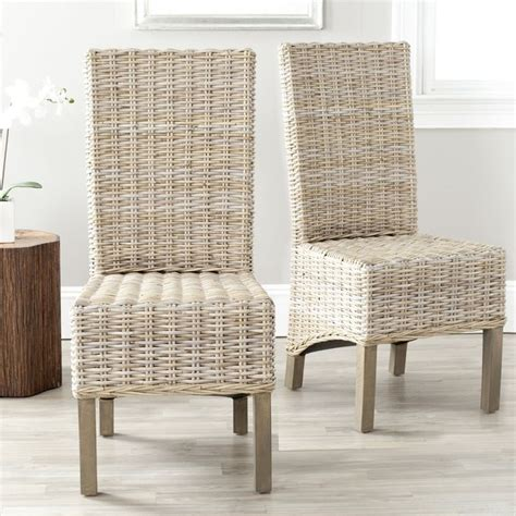 safavieh pembrooke unfinished wicker side chairs