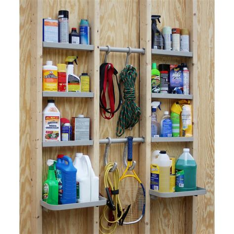 Garage Shelving Between Studs by Unicaddy Versacaddy 48 In X 48 In Shelving And Hooks