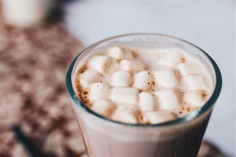 hot chocolate  marshmallows  top close