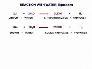 Why does lithium react with water less vigorously ...