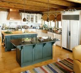 Retro Kitchen Island Vintage Unfitted Kitchen Design