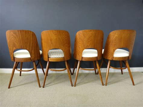set of molded plywood back dining chairs retrocraft