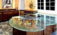 glass counter tops Kitchen Countertops Materials | DesignWalls.com