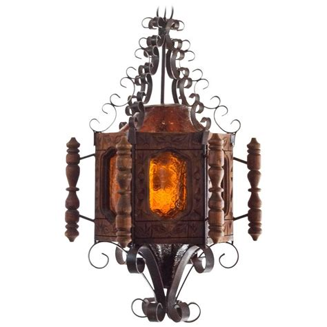 mexican chandeliers 1960s revival or mexican pendent light wrought