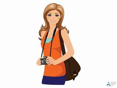 Clipart Travelling Woman Travel Traveling Character Traveler