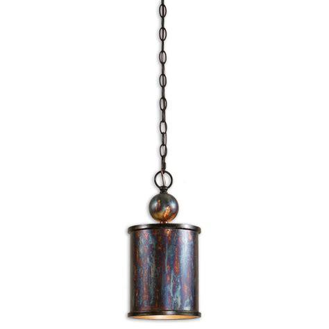 mini pendant lights rustic cylinder mini pendant