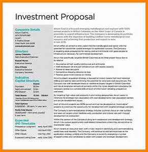 investment proposal investment proposal sample impression With venture capital investment proposal template