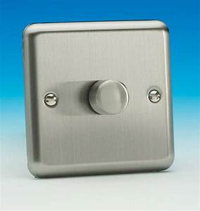 Brushed Chrome Dimmer Switches For Low Voltage Lighting