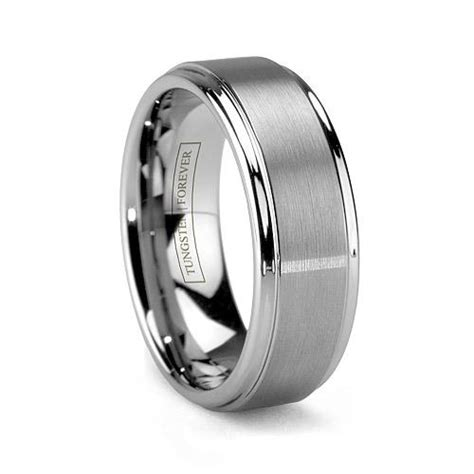 tungsten carbide mens wedding rings wilmide 39 s mattino tungsten carbide brushed mens wedding ring wedding bands cartier