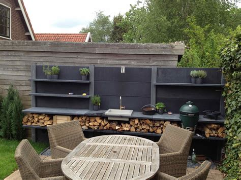 outdoor kitchen with green egg wwoo buitenkeuken opstelling met de big green egg small