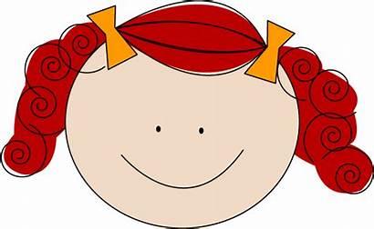 Clipart Hair Brown Clip Head Cliparts Redhead