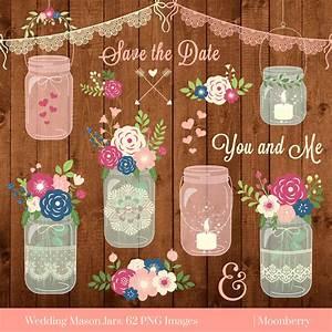 mason jar clipart wedding mason jars rustic With mason jar clip art for wedding invitations