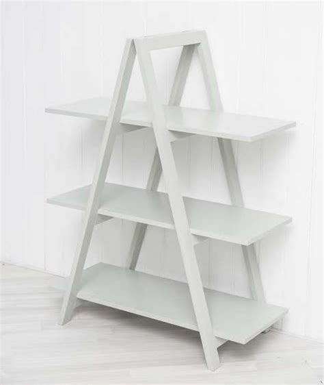 A Frame Bookcase by Grey A Frame Ladder Bookshelf
