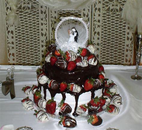 chocolate covered strawberry wedding cake  bride
