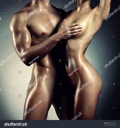 Art Photo Nude Sexy Couple Tender Stock Photo