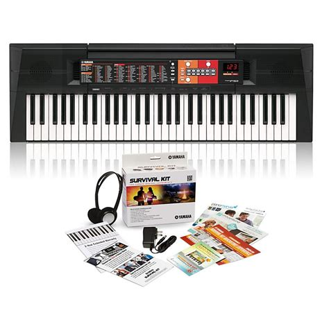 yamaha psr f51 yamaha psr f51 61 key portable keyboard with survival kit