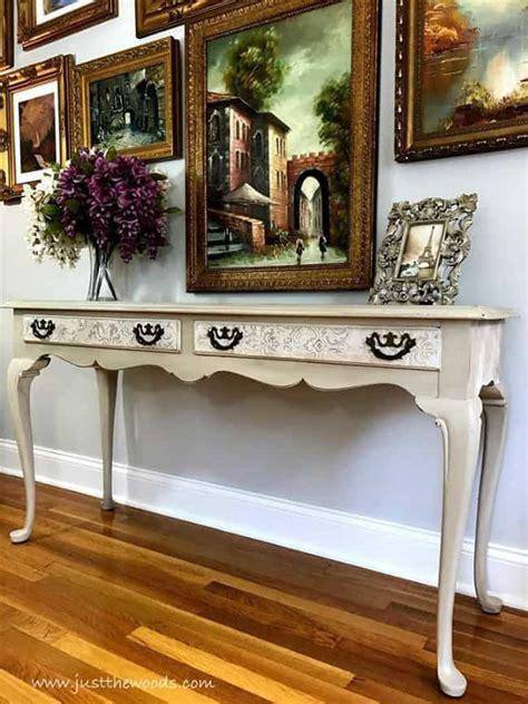create  stunning painted sofa table
