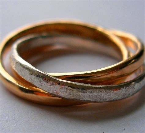 interlocking russian wedding rings felt