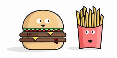 Clipart Fries Takeaway Transparent Fast Worker Burger