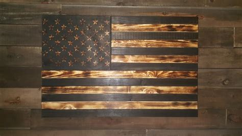 burnt large concealment flag wooden american flag weapon concealment cabinet