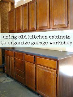 using kitchen cabinets in garage reuse kitchen cabinets in garage to create a workbench 8797