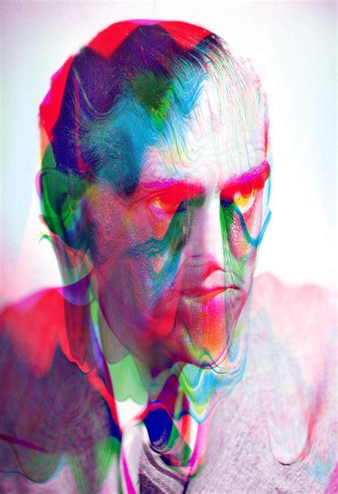 psychedelic digital portraits  tyler spangler art