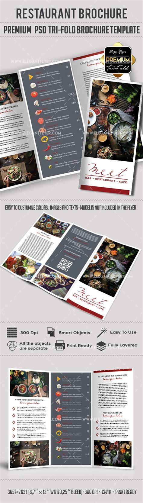 Template Brochure For Restaurant By Elegantflyer Restaurant Premium Tri Fold Psd Brochure Template By