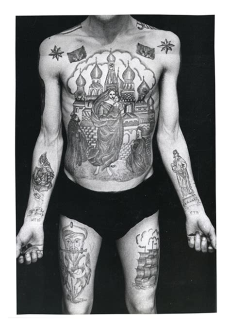 fichiers de la police russe des tatouages de criminels