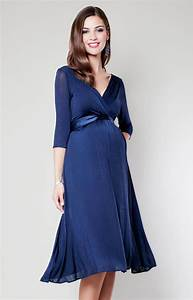 Willow maternity dress midnight blue maternity wedding for Maternity dresses for wedding party