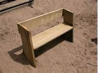 how to build a wood bench Easy beach or garden bench out of scrap wood - All