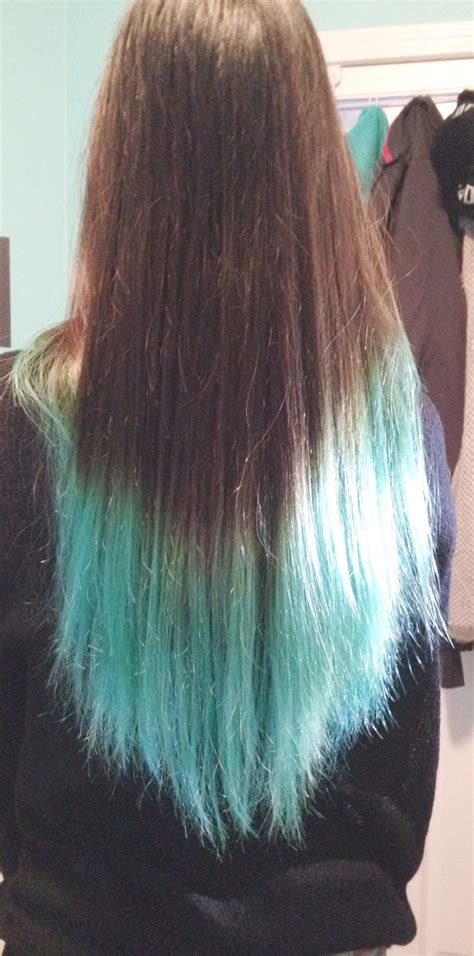 Karens Turquoise Dip Dyed Ends Hair Colors Ideas