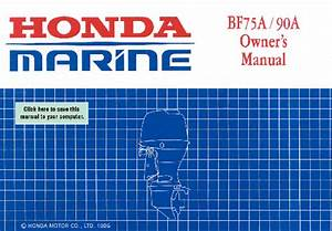 Outboard Motor Bf75a  90a Manuals